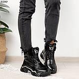 Кроссовки женские черные Зима 5593, фото 5