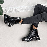 Кроссовки женские черные Зима 5593, фото 9