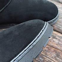Угги черные мужские UGG эко замша замшевые высокие ботинки сапоги зимние, фото 2
