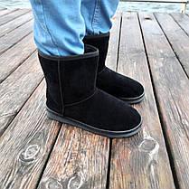 Угги черные мужские UGG эко замша замшевые высокие ботинки сапоги зимние, фото 3