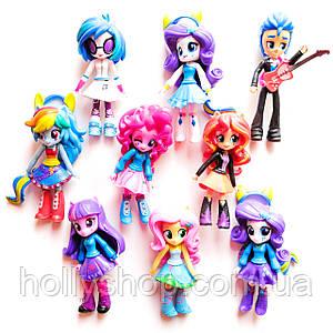 Набір ляльок 9в1 Літл Поні Дівчинки з Эквестрии , 13 см - (My Little Pony Equestria Girls Minis School Dance)