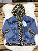 Джинсовая женская куртка с меховым капюшоном S-XL (в расцветках), фото 3