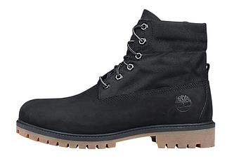 Мужские демисезонные ботинки Timberland Boots 'Military Black' (Premium-class) черные