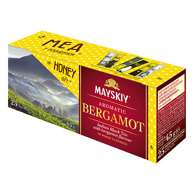 Чай з бергамотом в пакетиках Травневий чорний 25*2 г