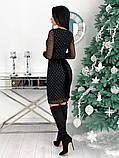 Вечернее платье из крепа с сеткой 50-620, фото 5