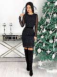 Вечернее платье из крепа с сеткой 50-620, фото 8