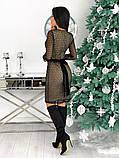 Вечернее платье из крепа с сеткой 50-620, фото 6