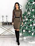 Вечернее платье из крепа с сеткой 50-620, фото 9