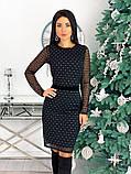 Вечернее платье из крепа с сеткой 50-620, фото 2