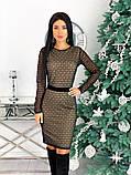 Вечернее платье из крепа с сеткой 50-620, фото 3
