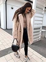 Женская стильная шуба из эко-меха овчина