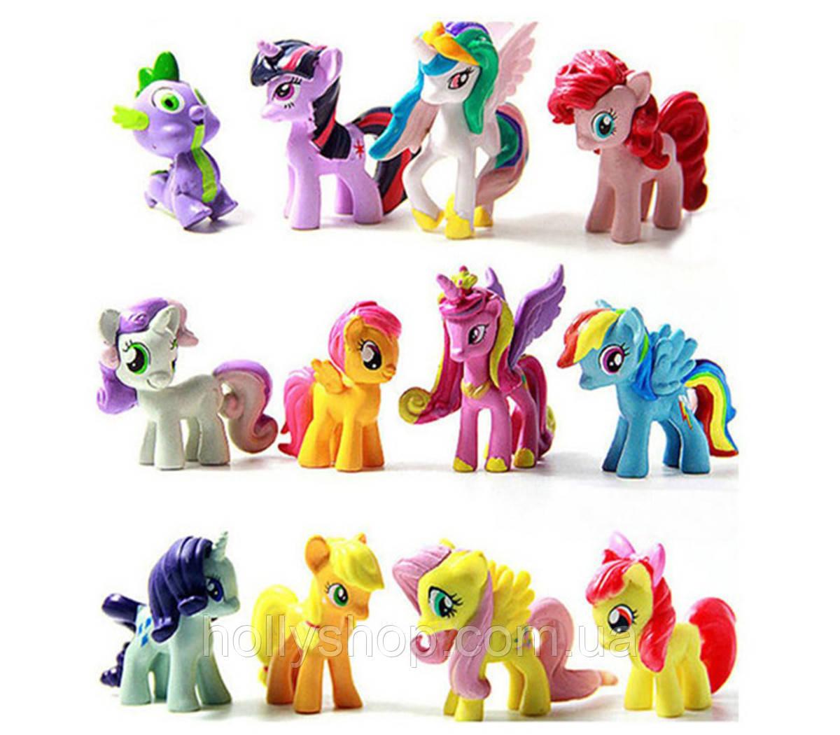 Набор фигурок Май Литл Пони My little pony фигурки Пони 12 шт