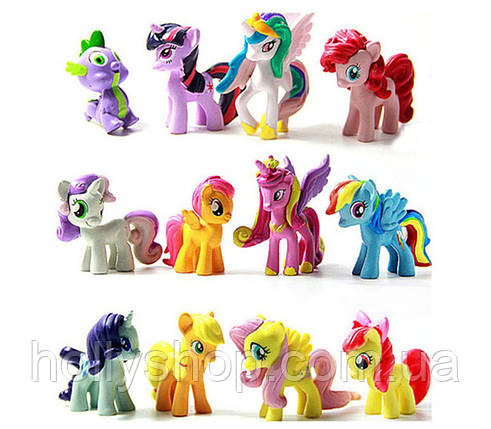 Набір фігурок Травень Літл Поні My little pony фігурки Поні 12 шт, фото 2