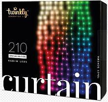 Smart LED Гирлянда Twinkly Curtain,Wall RGBW 210, BT+WiFi, Gen II, IP44 кабель прозрачный