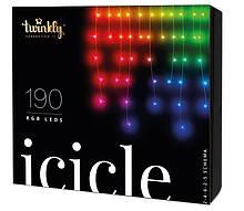 Smart LED Гирлянда Twinkly Icicle RGB 190, BT+WiFi, Gen II, IP44 кабель прозрачный