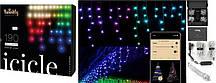 Smart LED Гирлянда Twinkly Icicle RGBW 190, BT+WiFi, Gen II, IP44 кабель прозрачный