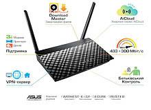 Маршрутизатор роутер/Wi-Fi/интернет/точка доступа для дома/офиса  ASUS RT-AC51U AC750, 4xFE LAN, 1xFE WAN,