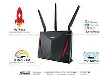 Маршрутизатор роутер/Wi-Fi/интернет/точка доступа для дома/офиса  ASUS RT-AC86U AC2900, 4xGE LAN, 1xGE WAN,