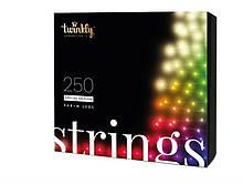 Smart LED Гирлянда Twinkly Strings RGBW 250, BT+WiFi, Gen II, IP44, кабель черный