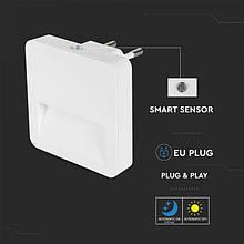 Декоративный светильник V-TAC, SKU-20019, 0.45W, LED Night Light SAMSUNG Chip Square 3000K