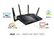 Маршрутизатор роутер/Wi-Fi/интернет/точка доступа для дома/офиса  ASUS RT-AX88U AX6000, 8xGE LAN, 1xGE WAN,