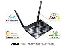 Маршрутизатор роутер/Wi-Fi/интернет/точка доступа для дома/офиса  ASUS RT-N12/VP N300, 4xFE LAN, 1xFE WAN