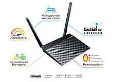 Маршрутизатор роутер/Wi-Fi/интернет/точка доступа для дома/офиса  ASUS RT-N12E/C1 802.11n N300 1xFE WAN, 4xFE