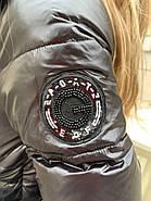 Черный пуховик с капюшоном ZLLY 19490-black, фото 5