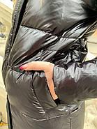 Черный пуховик с капюшоном ZLLY 19490-black, фото 7