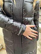 Черный пуховик с капюшоном ZLLY 19490-black, фото 8