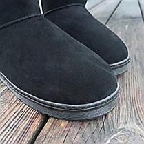 Чорні чоловічі уггі UGG замша еко високі замшеві черевики чоботи зимові, фото 3