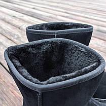 Чорні чоловічі уггі UGG замша еко високі замшеві черевики чоботи зимові, фото 2