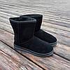 Чорні чоловічі уггі UGG замша еко високі замшеві черевики чоботи зимові, фото 4