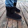 Чорні чоловічі уггі UGG замша еко високі замшеві черевики чоботи зимові, фото 5