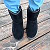 Чорні чоловічі уггі UGG замша еко високі замшеві черевики чоботи зимові, фото 6