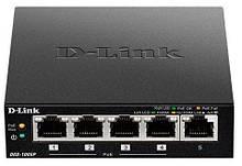 Коммутатор видеонаблюдения, СКС, офиса, сетевое оборудование  D-Link DGS-1005P 5xGE (4xPoE, 1xUplink), 60W