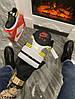 Мужские кроссовки 3M x Nike Air Force 1 React LX Release Information (Premium-class) черные с желтым, фото 5