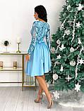 Нарядное комбинированное платье 50-622, фото 8