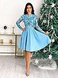 Нарядное комбинированное платье 50-622, фото 5