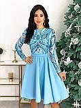 Нарядное комбинированное платье 50-622, фото 2