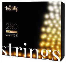 Smart LED Гирлянда Twinkly Strings AWW 250, BT+WiFi, Gen II, IP44, кабель черный