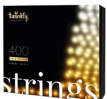 Smart LED Гирлянда Twinkly Strings AWW 400, BT+WiFi, Gen II, IP44, кабель черный