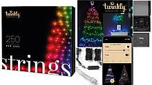 Smart LED Гирлянда Twinkly Strings RGB 250, BT+WiFi, Gen II, IP44 кабель черный