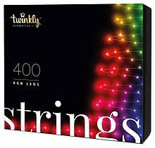 Smart LED Гирлянда Twinkly Strings RGB 400, BT+WiFi, Gen II, IP44 кабель черный