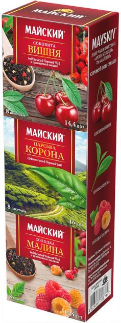 Набор черного чая в пакетиках Майский Ассорти 24*2 г