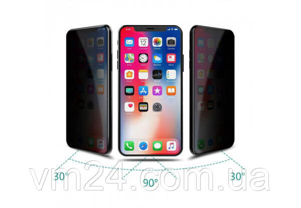 Повне покриття Керамічне захисне скло для iPhone XS Max / 11 Pro Max / 6.5 мм Чорний