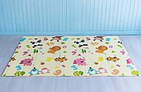 Детский двусторонний коврик Зоопарк - Ростомер складной развивающий коврик термо 2м х 1,5м х 10 мм