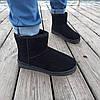 41 розмір Уггі чорні чоловічі UGG замша еко замшеві низькі короткі чоботи зимові черевики, фото 3