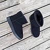 41 розмір Уггі чорні чоловічі UGG замша еко замшеві низькі короткі чоботи зимові черевики, фото 6