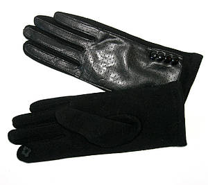 Перчатки женские сенсорные черные р.8,5